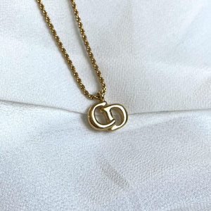 Authentic Christian Dior CD Necklace