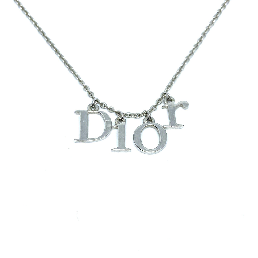 Authentic Dior Spellout Pendant - Necklace