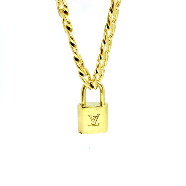 Padlock with Chunky Chain Necklace NO KEY