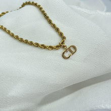 Load image into Gallery viewer, Reworked Mini Dior Pendant - Necklace