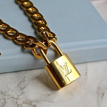 Load image into Gallery viewer, Padlock with Chunky Chain Necklace NO KEY