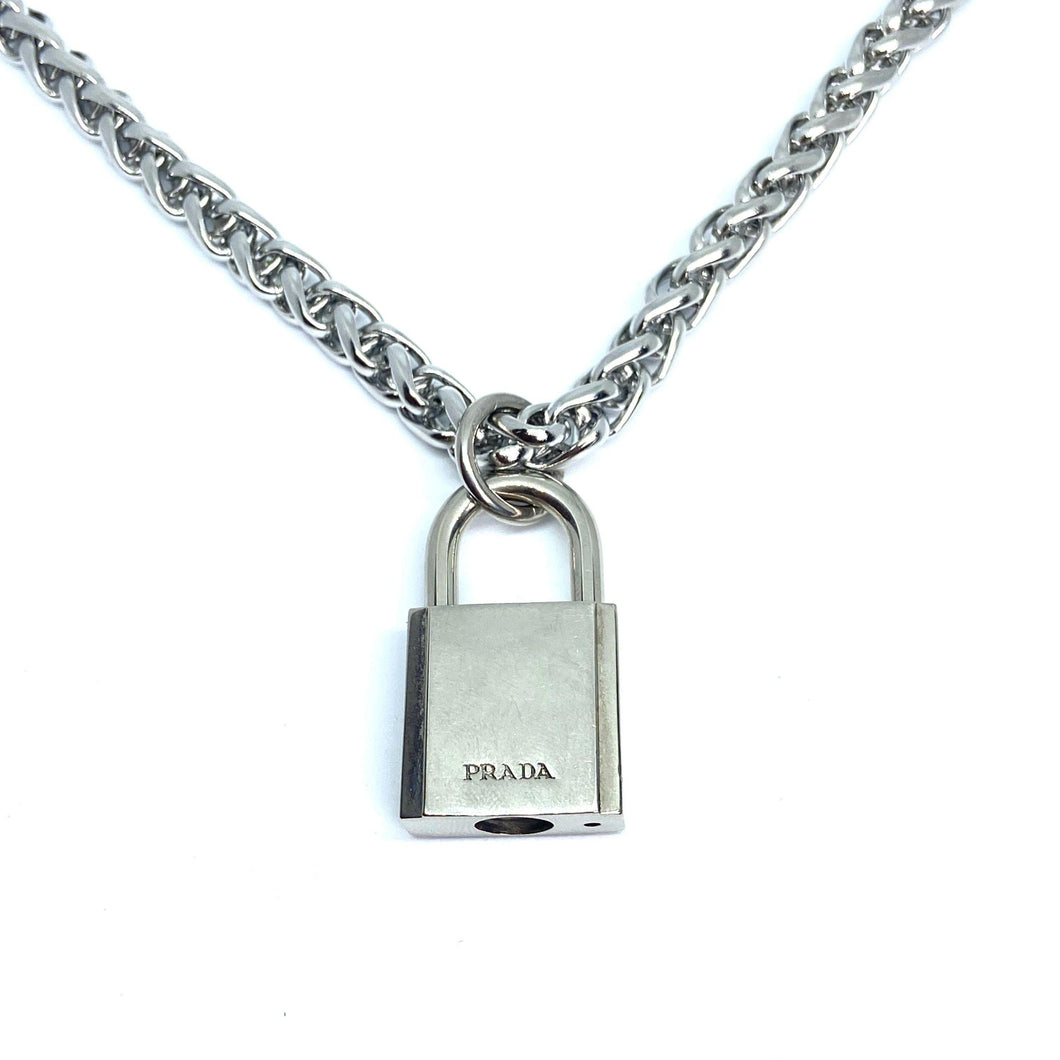Authentic Prada Padlock-Necklace - Boutique SecondLife