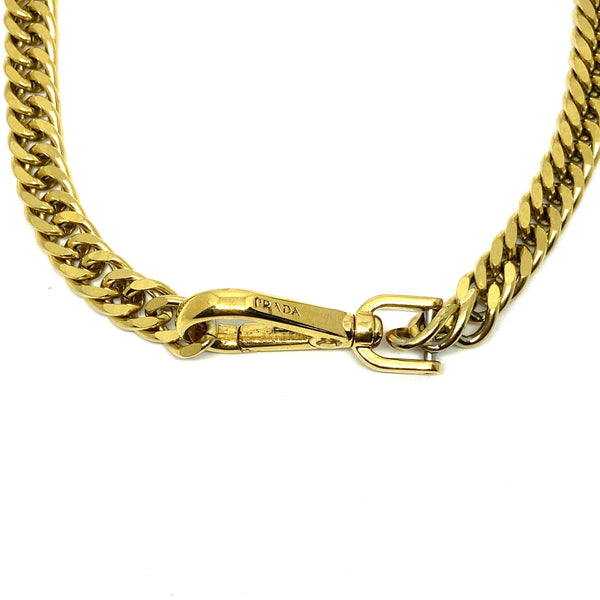 Repurposed Authentic Prada Clasp- Necklace