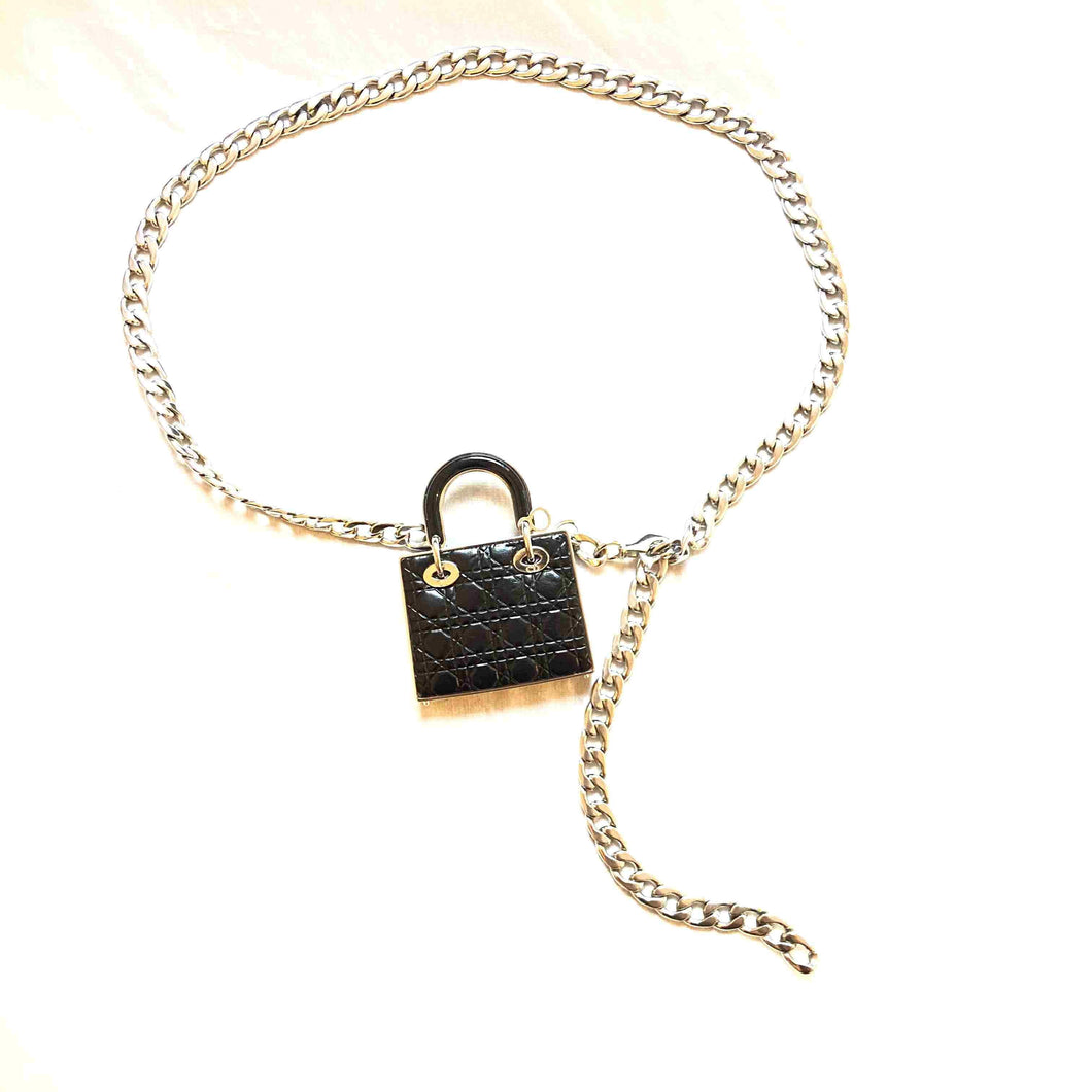 Repurposed Dior lady Dior charm Belt