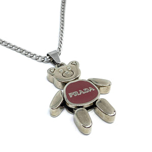Small Authentic Prada Bear Reworked Necklace
