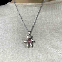 Load image into Gallery viewer, Small Authentic Prada Bear Reworked Necklace