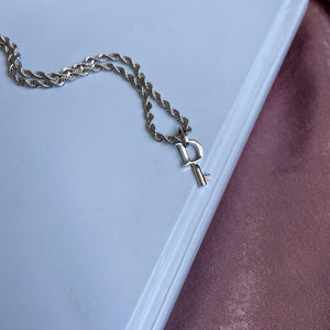 Reworked Authentic Dior Key Small Pendant - Necklace