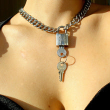 Load image into Gallery viewer, Chanel Silver Padlock Necklace
