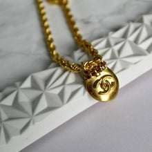 Load image into Gallery viewer, Long CC Repurposed Necklace from Vintage Earrings