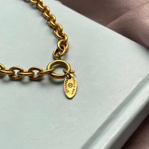 Authentic Chanel Chain Tag Repurposed Necklace