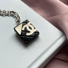 Load image into Gallery viewer, Authentic Square Chanel Pendant Repurposed Necklace