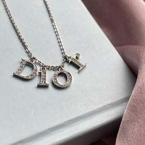 Authentic Dior Spellout Necklace