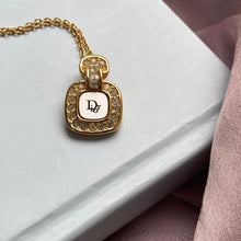 Load image into Gallery viewer, Authentic Dior Square White Pendant- Necklace