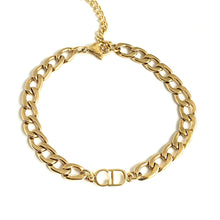 Load image into Gallery viewer, Repurposed Authentic Dior pendant Anklet