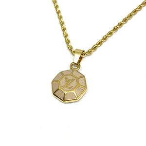 Authentic Louis Vuitton Rose Medium Pendant-Repurposed Necklace