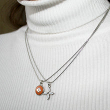 Load image into Gallery viewer, Reworked Clover Orange Pendant