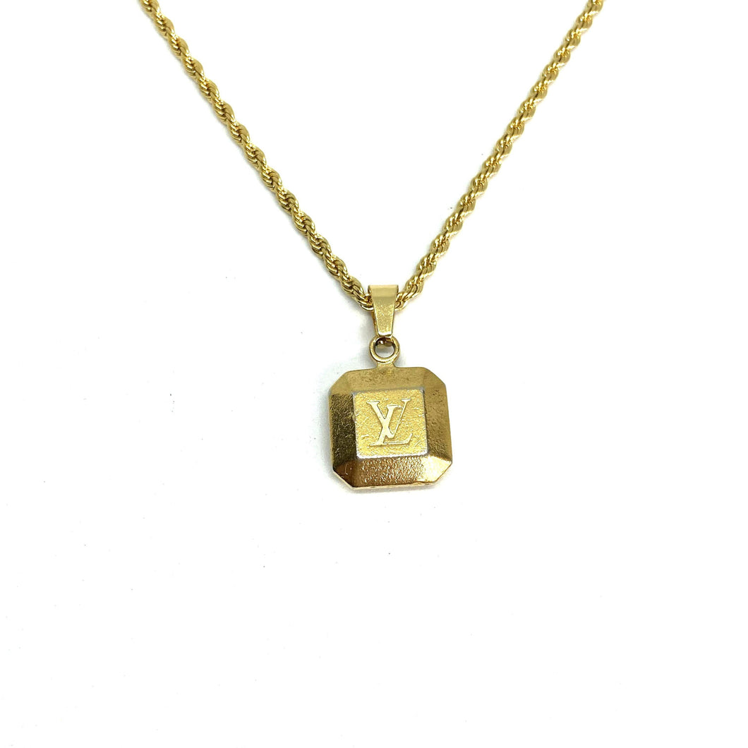Authentic Louis Vuitton Pendant-Repurposed Necklace