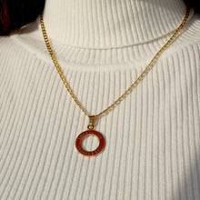 Load image into Gallery viewer, Reworked Red Round Pendant from Authentic Charm