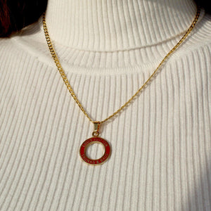 Reworked Red Round Pendant from Authentic Charm