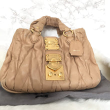 Load image into Gallery viewer, Miu Miu Bag Authentic Matelasse Beige