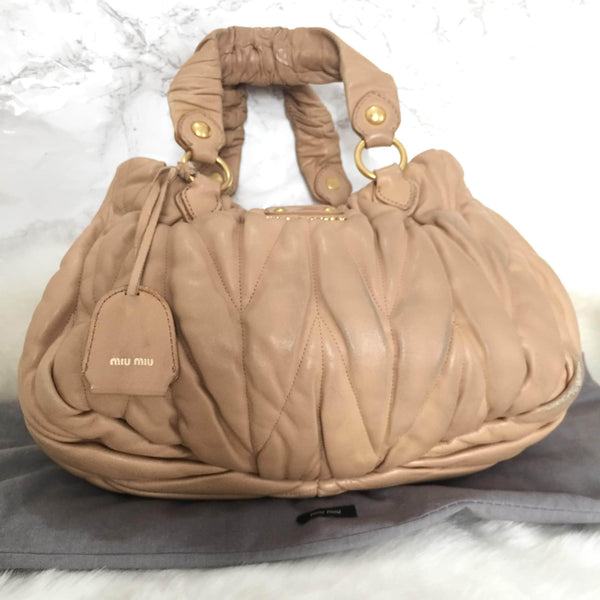 Miu Miu Bag Authentic Matelasse Beige