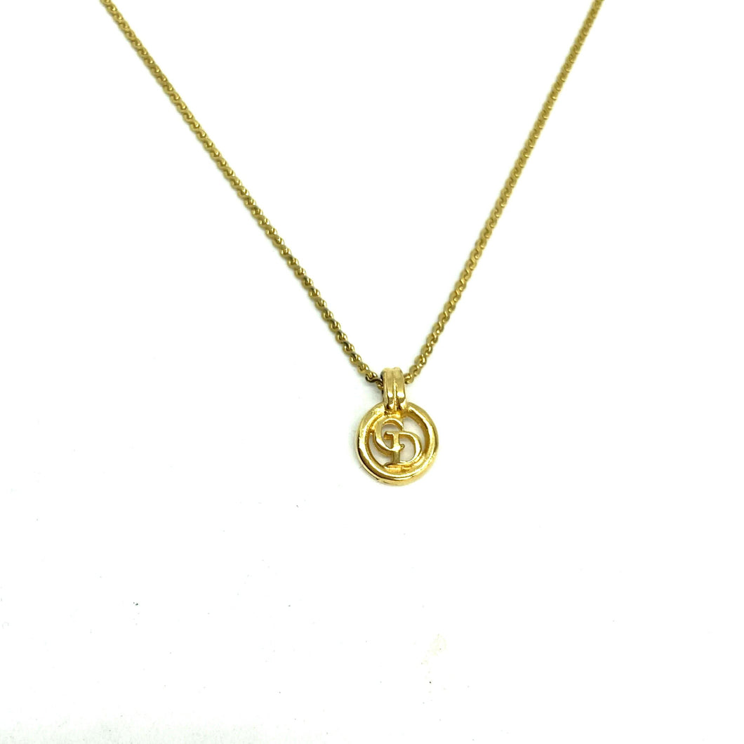Authentic Mini CD Dior Pendant- Necklace