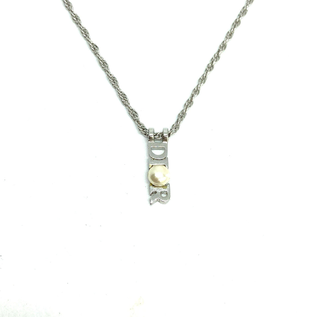 Authentic Dior Silver  Pendant- Necklace