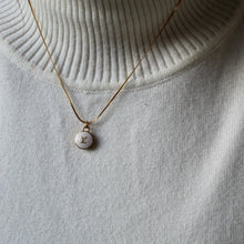 Load image into Gallery viewer, Authentic Louis Vuitton Logo White Pendant- Necklace