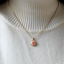 Load image into Gallery viewer, Authentic Louis Vuitton Logo Peach Pendant- Necklace
