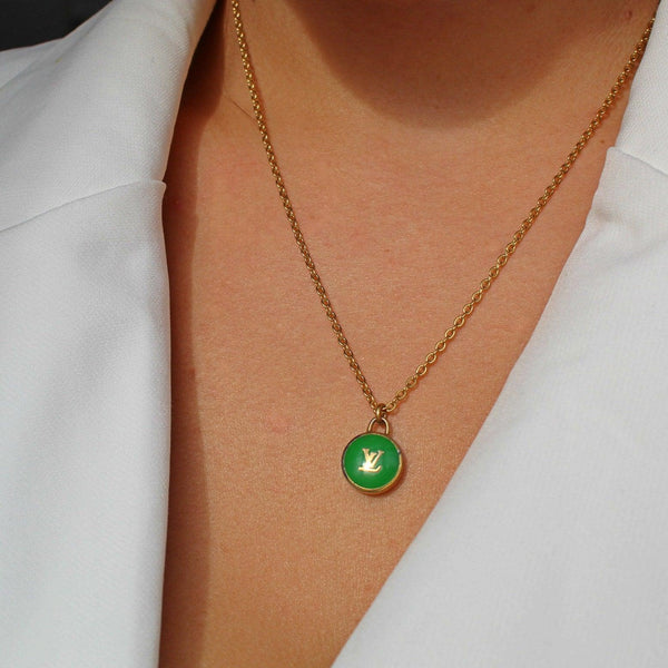 Reworked Green  Pastilles Pendant