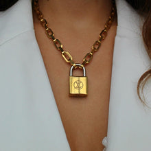 Load image into Gallery viewer, Limited Edition Vintage Louis Vuitton Padlock Necklace