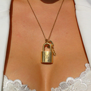 Louis Vuitton Padlock Necklace with Single Chain