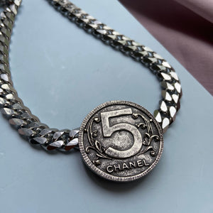 Authentic Chanel Big Pendant CC Repurposed Choker