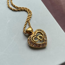 Load image into Gallery viewer, Authentic Heart Dior Vintage Pendant - Necklace