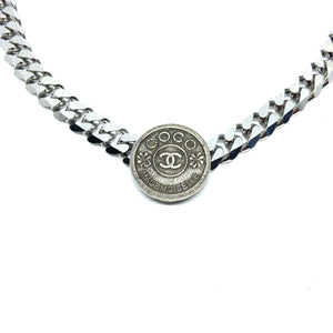 Authentic Chanel Pendant CC Repurposed Choker - Boutique SecondLife