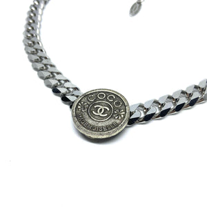 Authentic Chanel Pendant CC Repurposed Choker