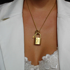 Louis Vuitton Necklace Padlock with single chain