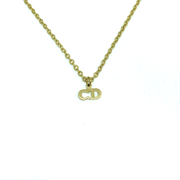 Authentic Mini Dior Vintage Pendant - Necklace