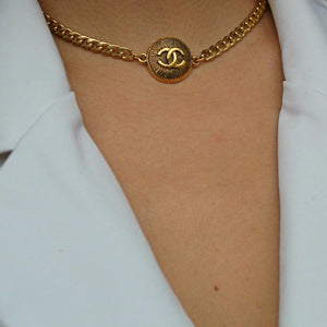 Authentic Chanel Pendant CC Cambon Repurposed Choker