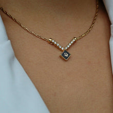 Load image into Gallery viewer, Authentic Dior CD  Square Vintage Necklace