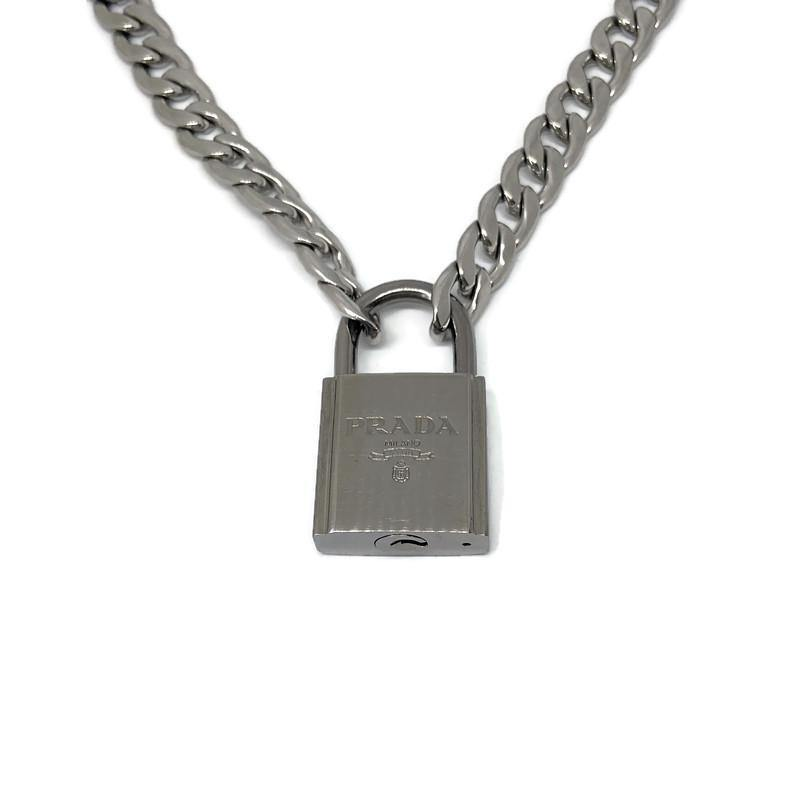 Repurposed Authentic Prada Padlock-Necklace