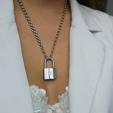 Load image into Gallery viewer, Authentic Chanel Silver Padlock-Necklace