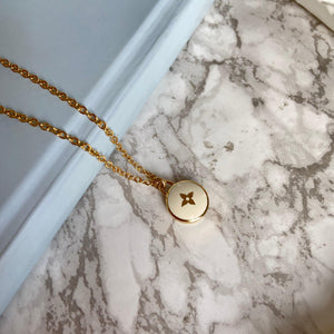 Authentic Louis Vuitton White Pendant- Necklace