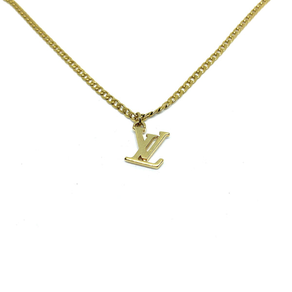 Authentic Louis Vuitton Logo Pendant- Necklace