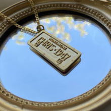 Load image into Gallery viewer, Authentic Christian Dior Pendant Tag-Necklace