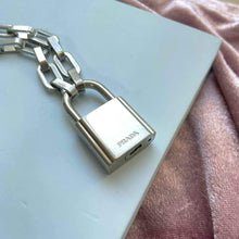 Load image into Gallery viewer, Authentic Prada Lock-Geometric Necklace