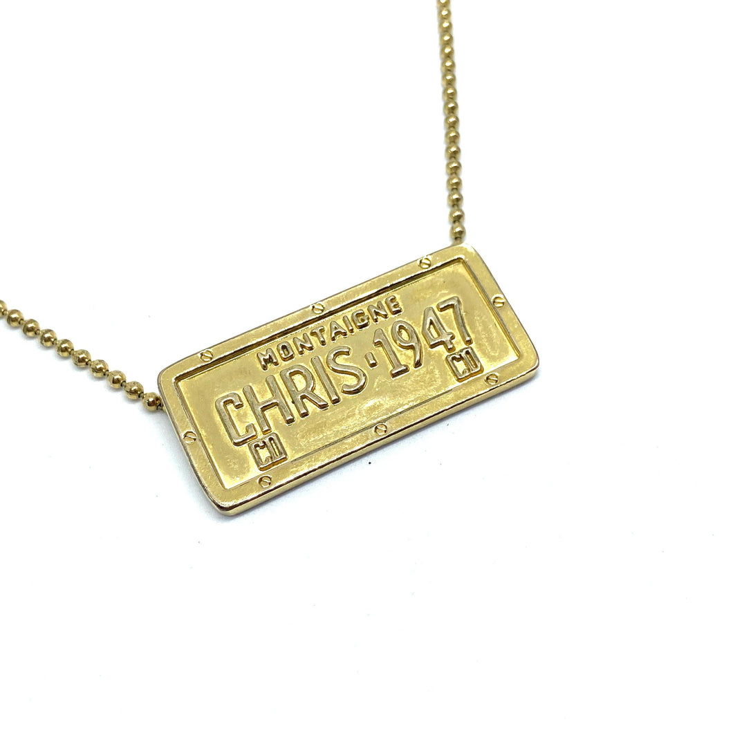 Authentic Christian DIOR Tag Necklace