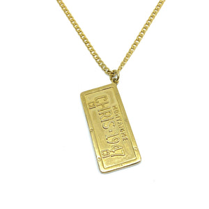 Authentic Christian Dior Pendant Tag STAMPED -Necklace