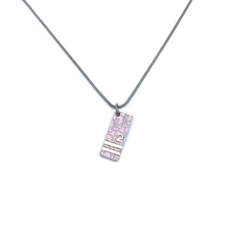 Authentic Dior Pink Pendant Necklace