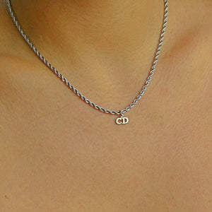 Reworked Mini Dior Pendant - Necklace